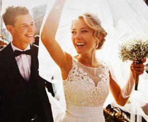 Married wedding couple