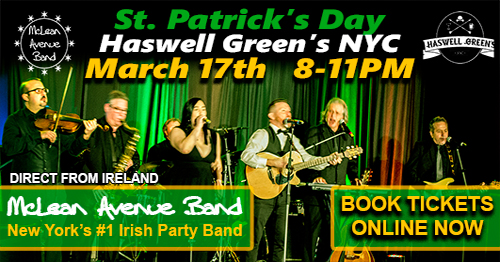 March 17th at Haswell Green's - 8PM